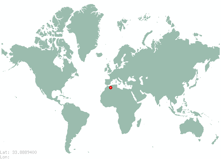 Beirut in world map